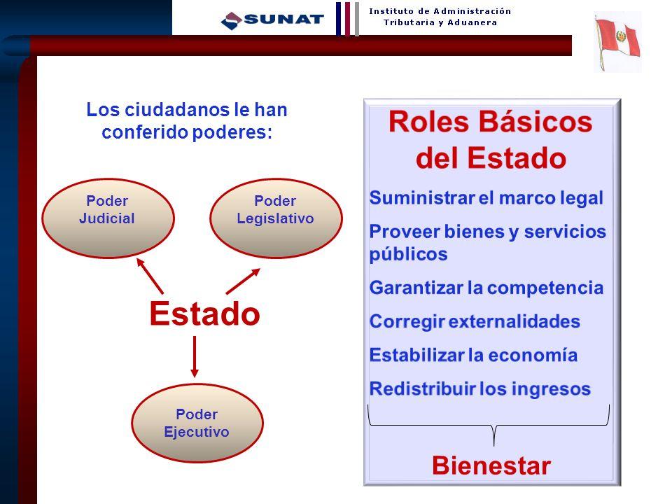 Los ciudadanos le han conferido poderes: Roles Básicos del Estado