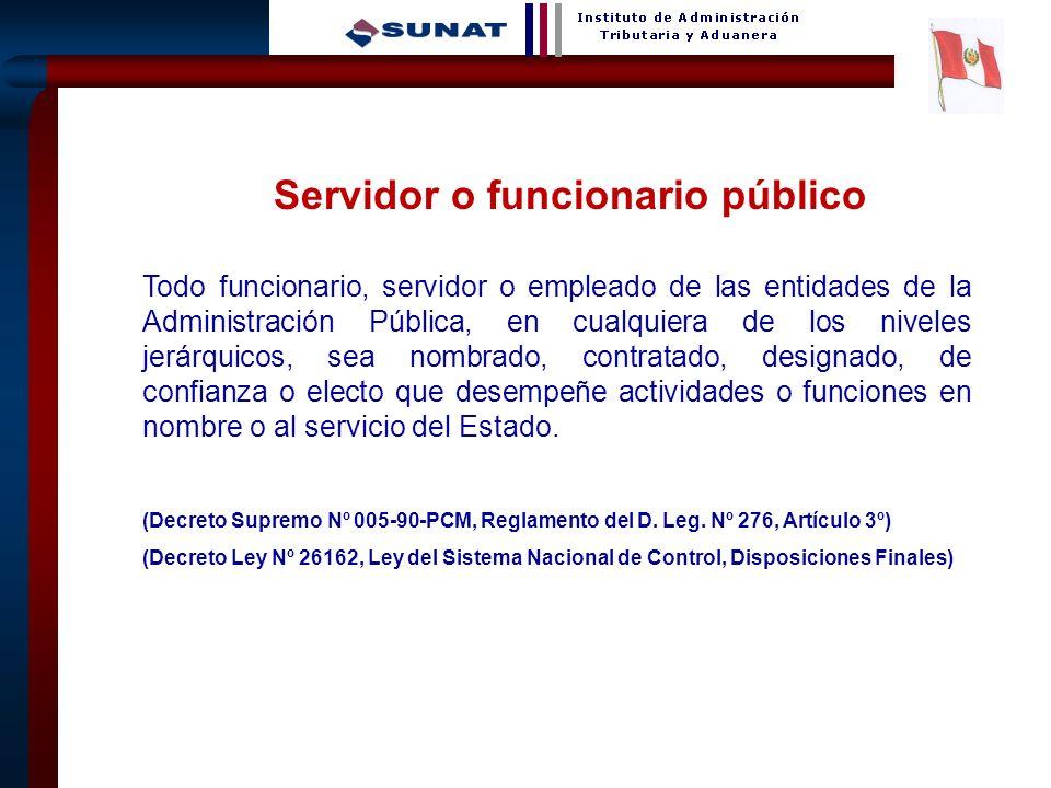 Servidor o funcionario público