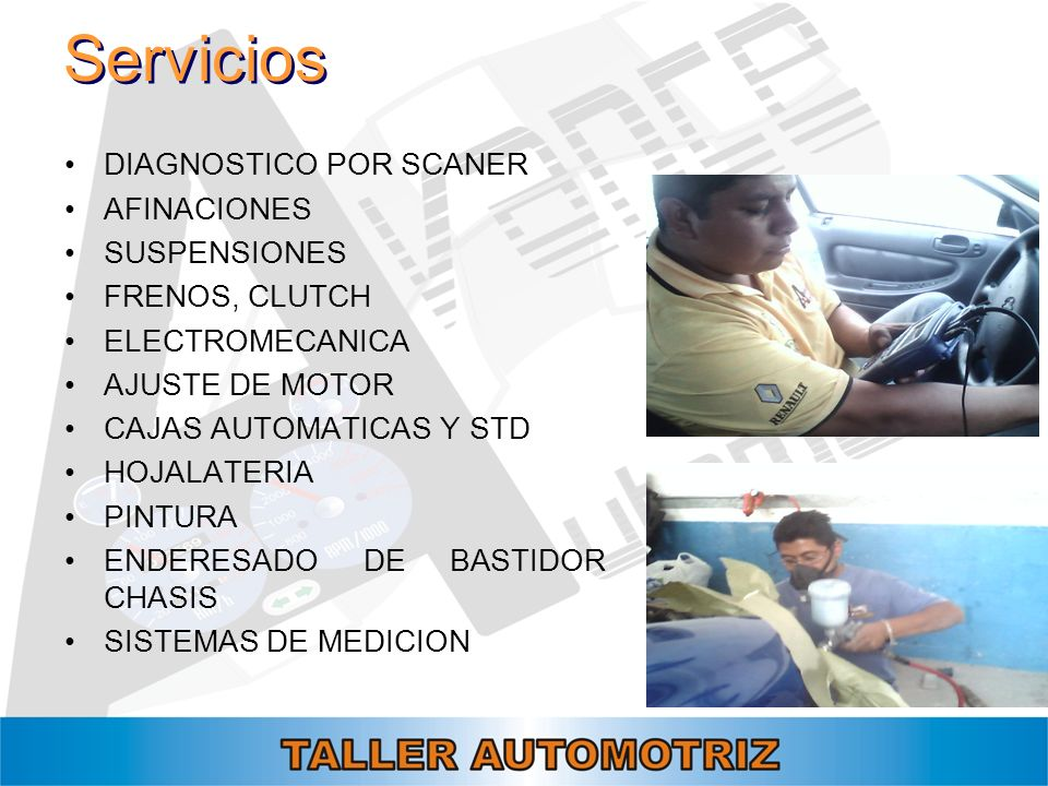 Servicios DIAGNOSTICO POR SCANER AFINACIONES SUSPENSIONES