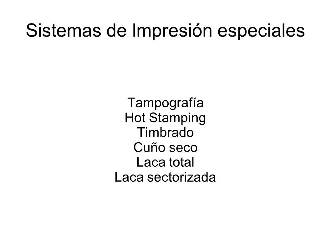 Sistemas de Impresión especiales