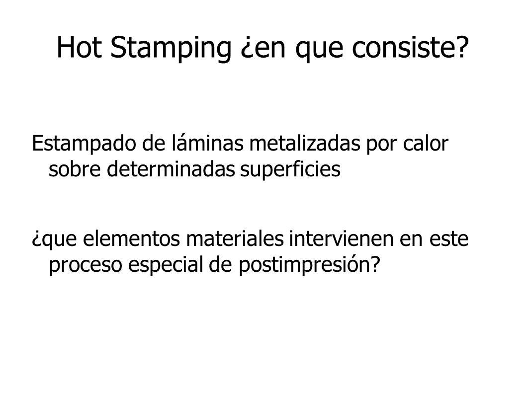 Hot Stamping ¿en que consiste