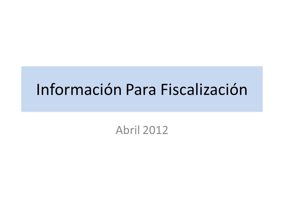 Información Para Fiscalización