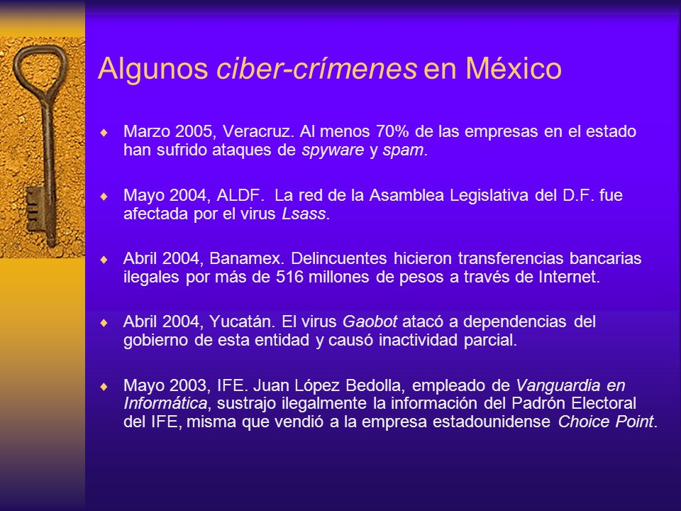 Algunos ciber-crímenes en México