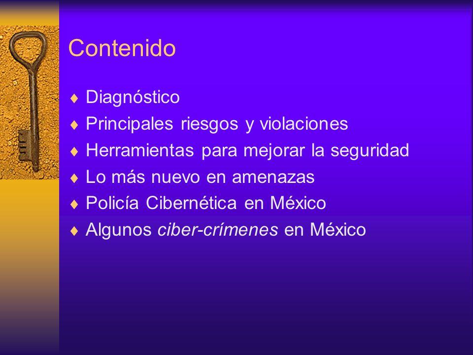 Contenido Diagnóstico Principales riesgos y violaciones