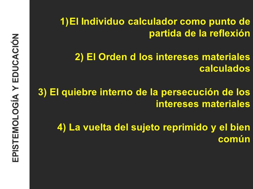 El Individuo calculador como punto de partida de la reflexión