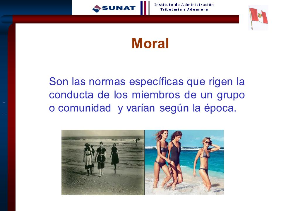 MoralSon las normas específicas que rigen la conducta de los miembros de un grupo o comunidad y varían según la época.