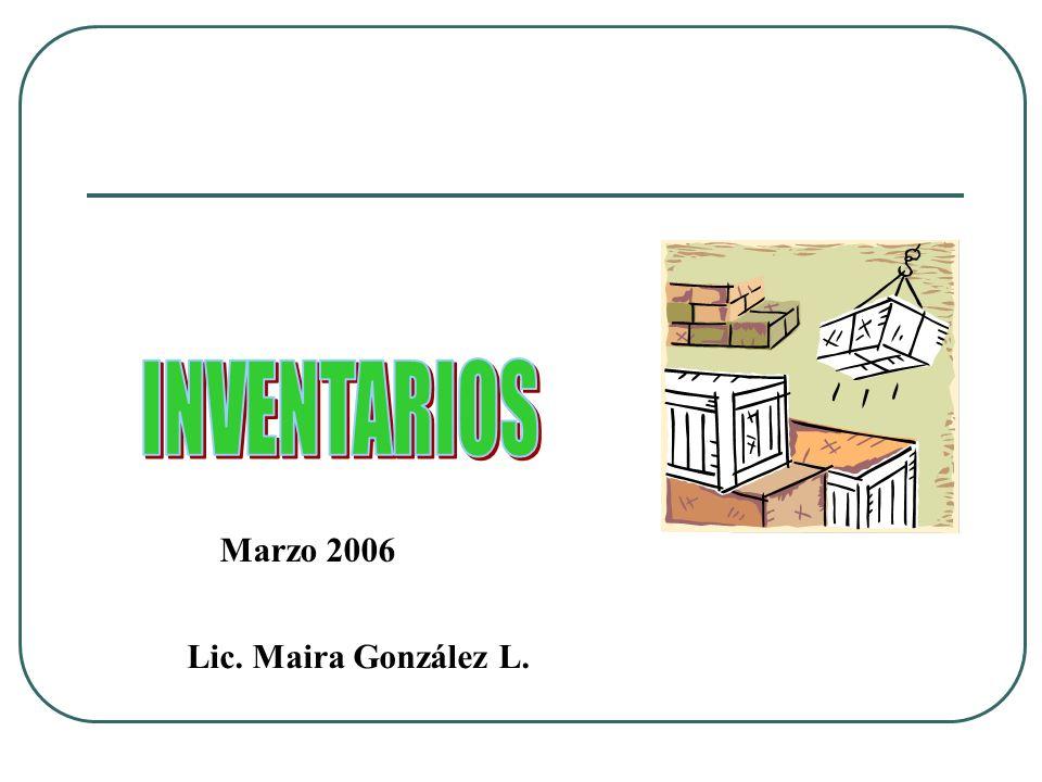 INVENTARIOS Marzo 2006 Lic. Maira González L.