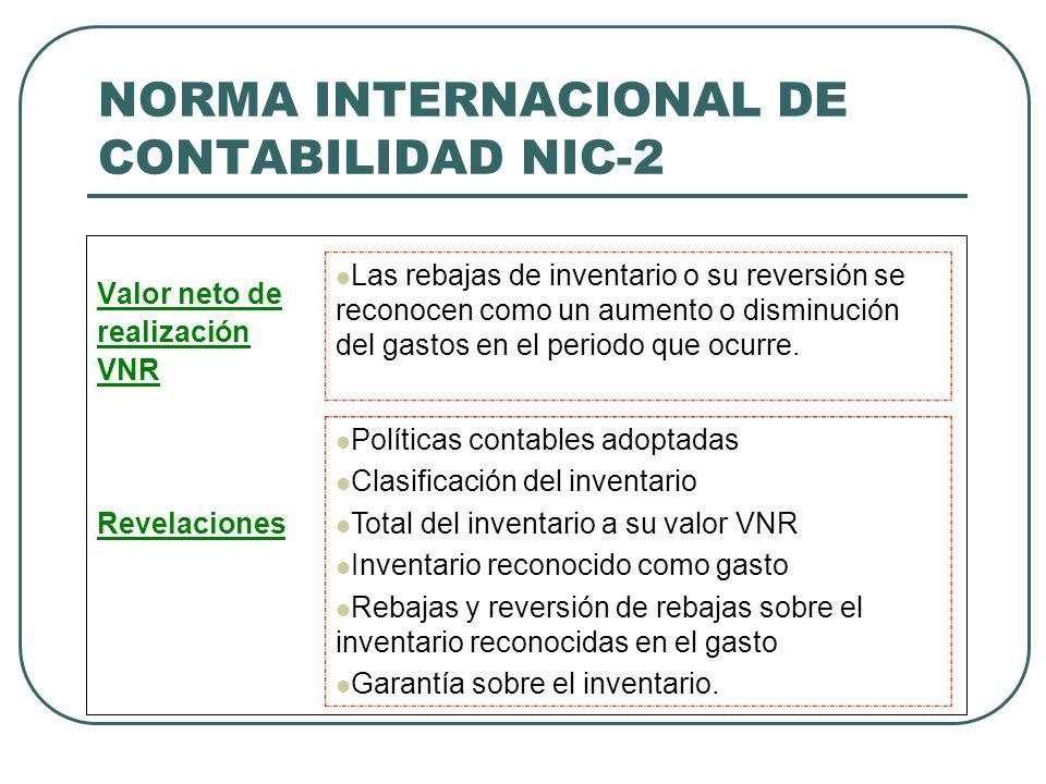 NORMA INTERNACIONAL DE CONTABILIDAD NIC-2