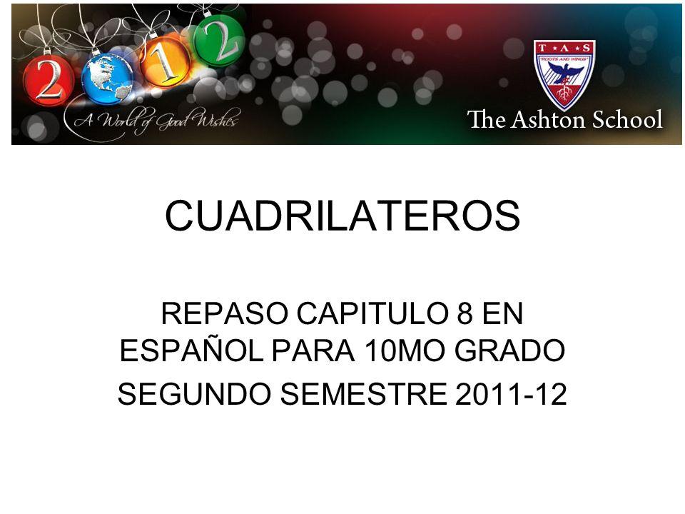 REPASO CAPITULO 8 EN ESPAÑOL PARA 10MO GRADO SEGUNDO SEMESTRE 2011-12