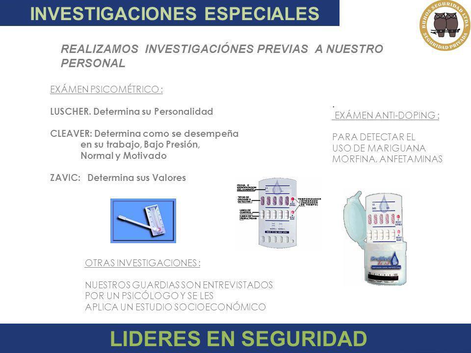 LIDERES EN SEGURIDAD INVESTIGACIONES ESPECIALES
