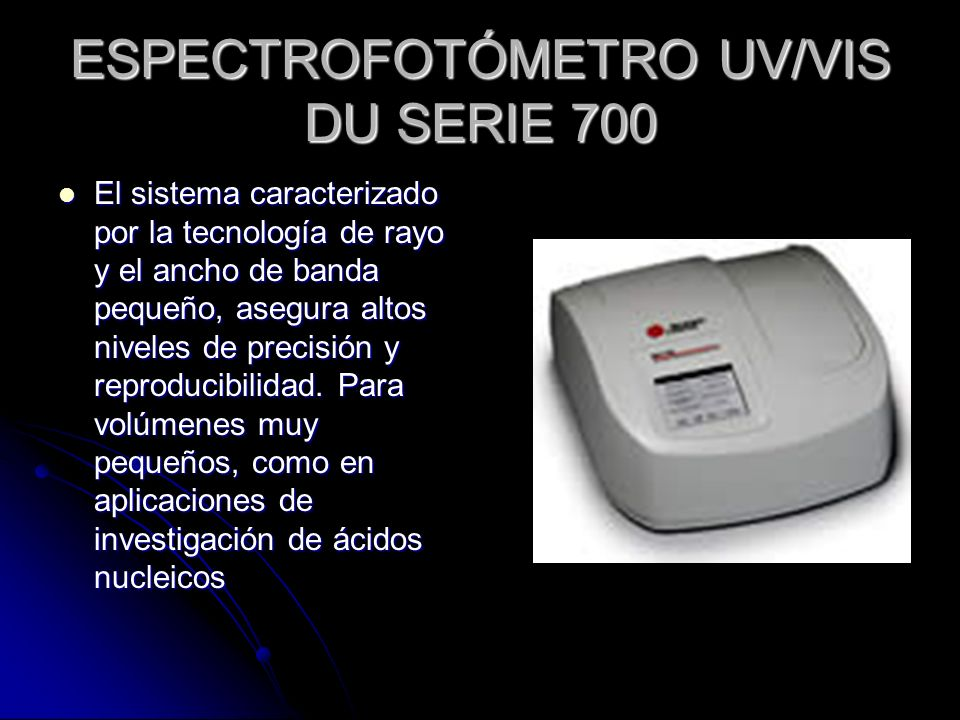 ESPECTROFOTÓMETRO UV/VIS DU SERIE 700