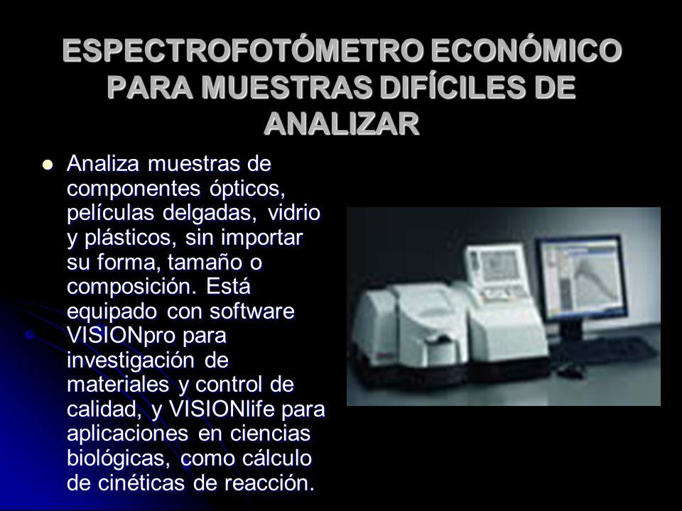 ESPECTROFOTÓMETRO ECONÓMICO PARA MUESTRAS DIFÍCILES DE ANALIZAR