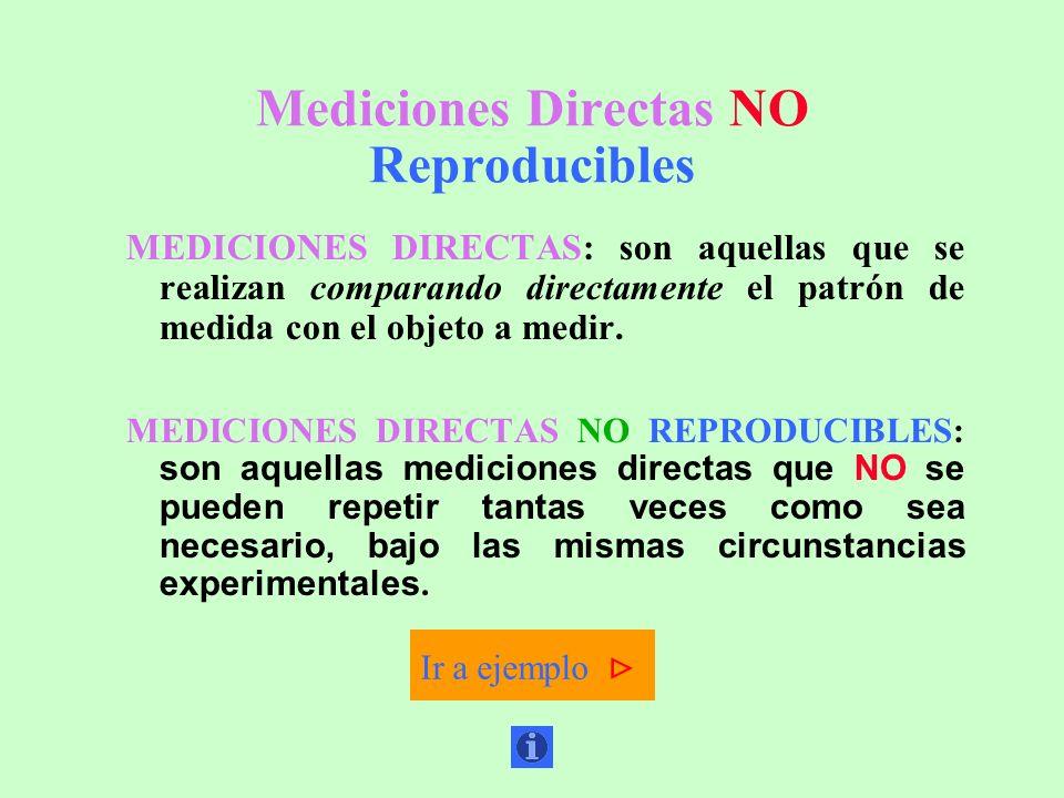 Mediciones Directas NO Reproducibles