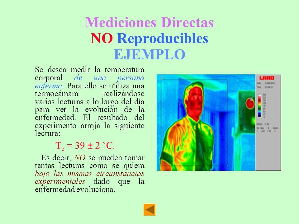 Mediciones Directas NO Reproducibles EJEMPLO