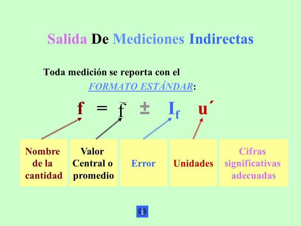 Salida De Mediciones Indirectas