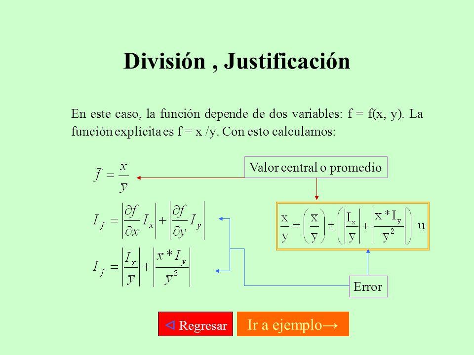 División , Justificación