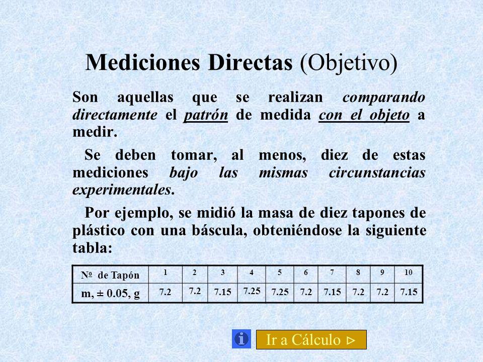 Mediciones Directas (Objetivo)