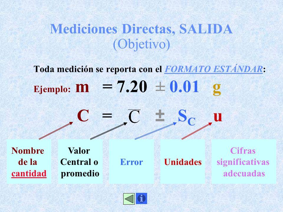 Mediciones Directas, SALIDA (Objetivo)