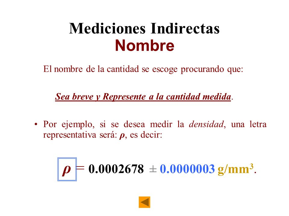 Mediciones Indirectas Nombre