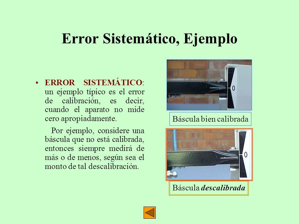 Error Sistemático, Ejemplo