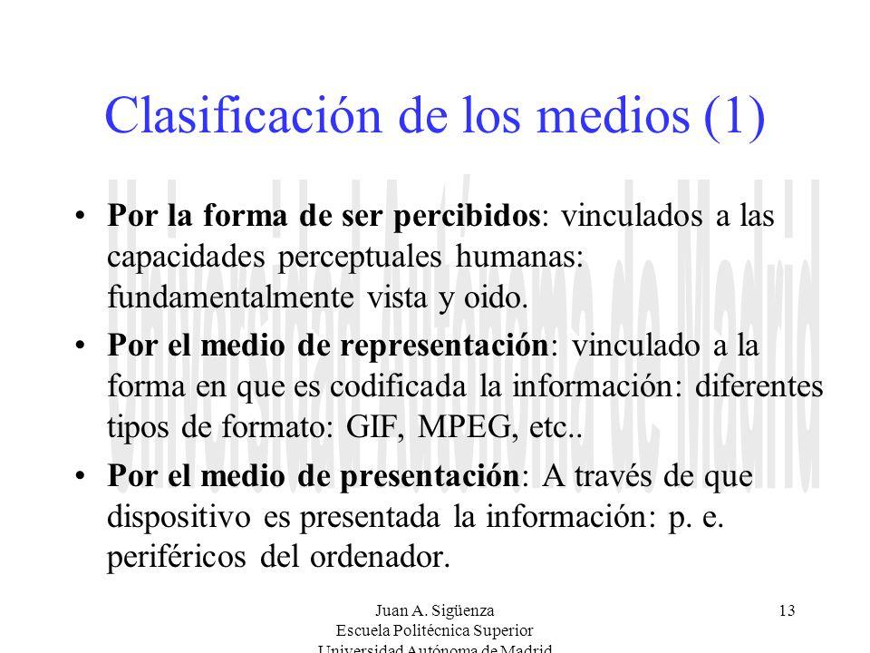 Clasificación de los medios (1)