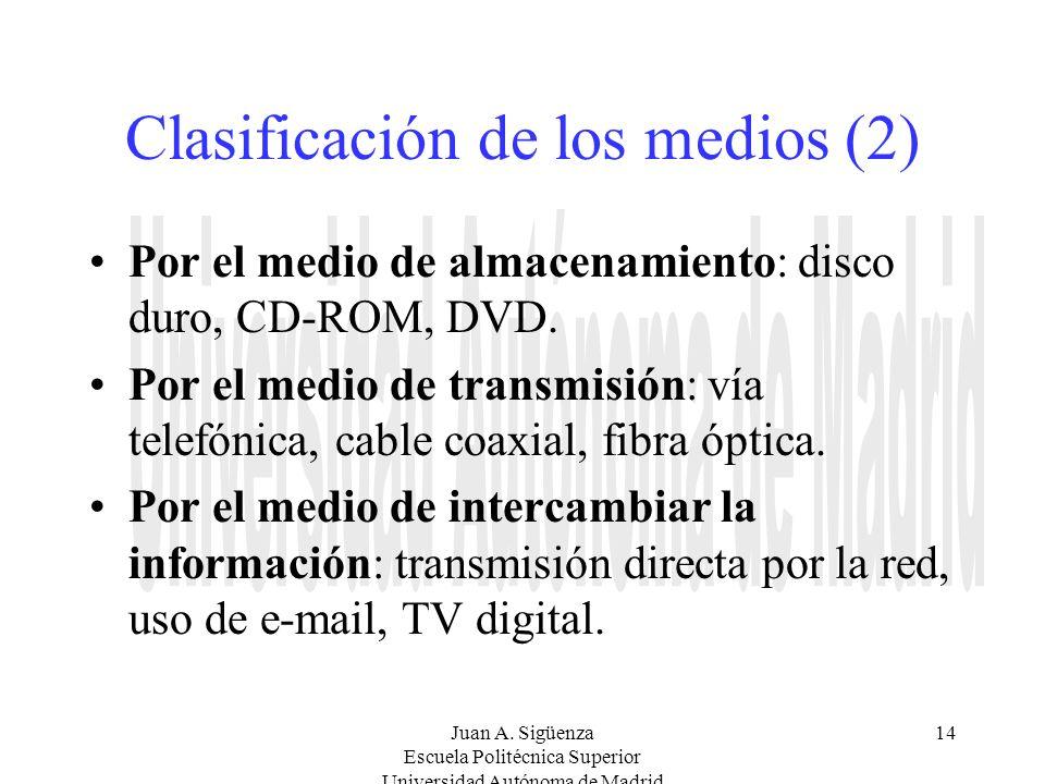 Clasificación de los medios (2)