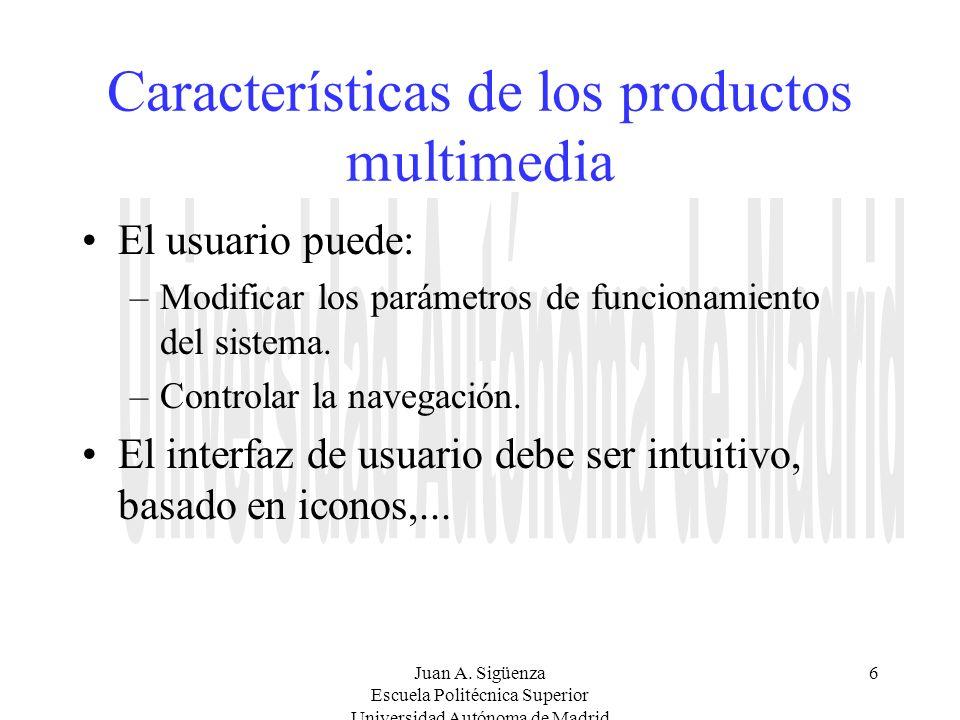 Características de los productos multimedia