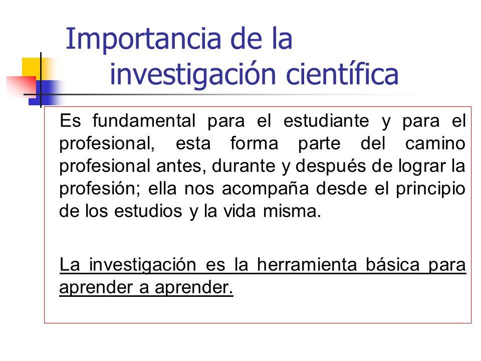 Importancia de la investigación científica