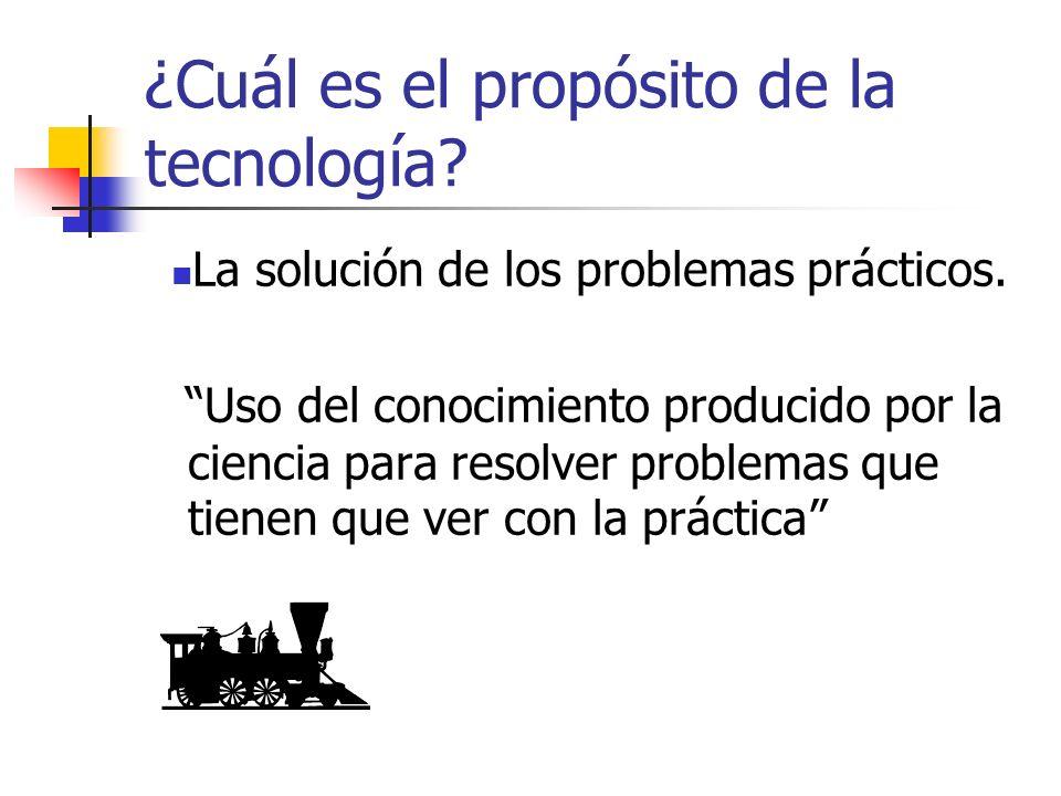 ¿Cuál es el propósito de la tecnología