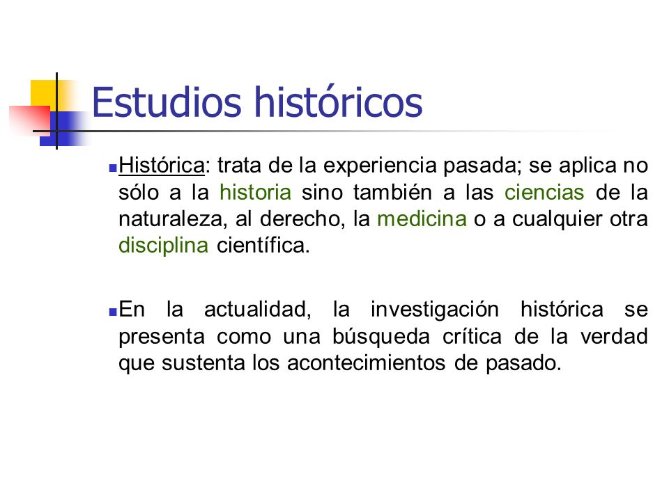 Estudios históricos
