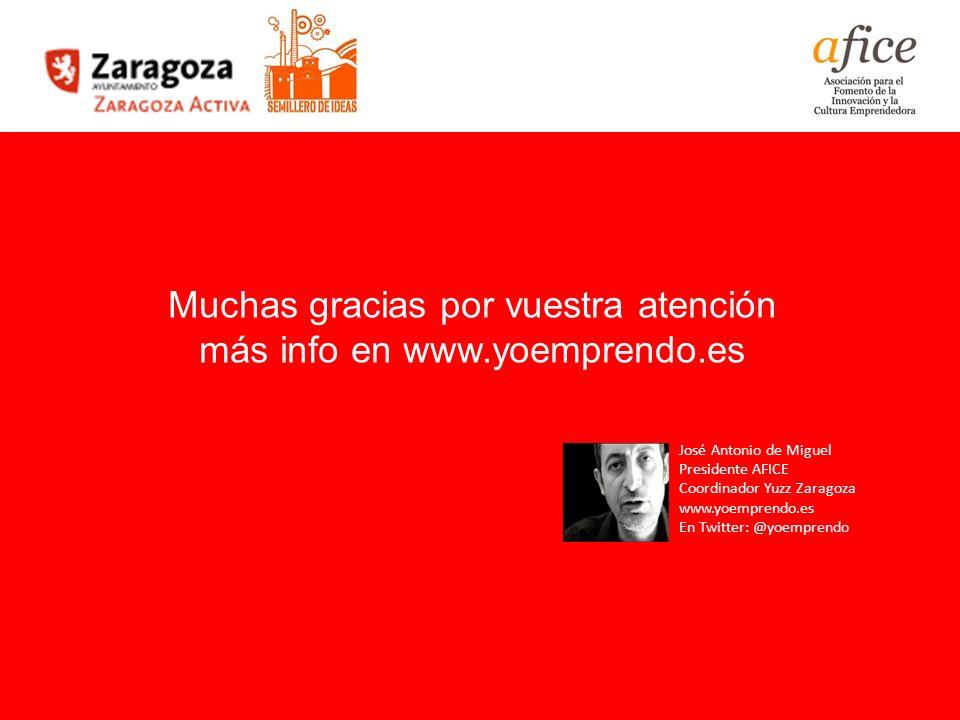 Muchas gracias por vuestra atención más info en www.yoemprendo.es