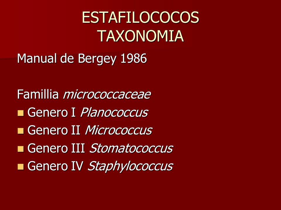ESTAFILOCOCOS TAXONOMIA