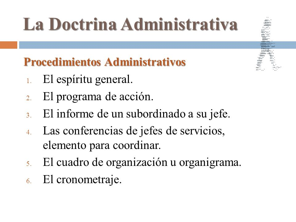 La Doctrina Administrativa