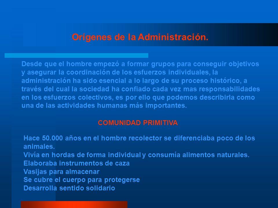 Orígenes de la Administración.