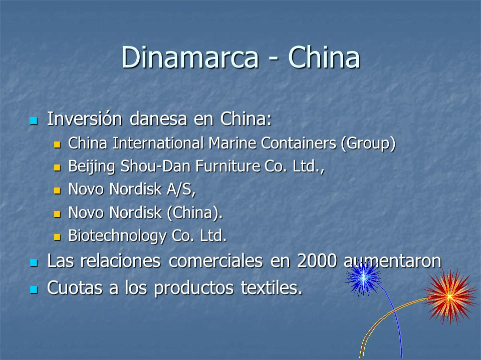 Dinamarca - China Inversión danesa en China: