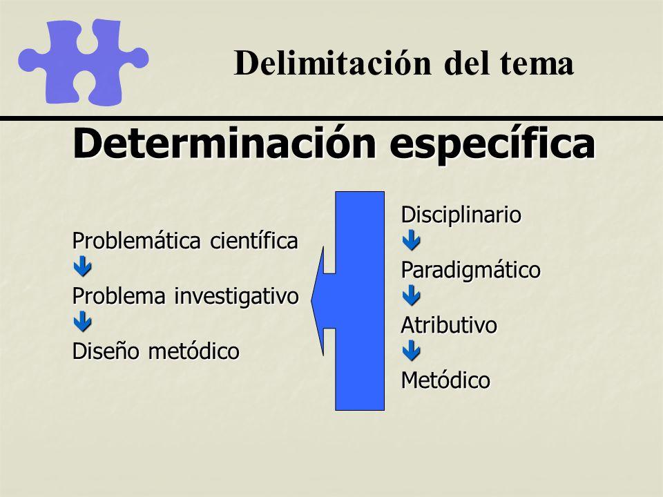 Determinación específica