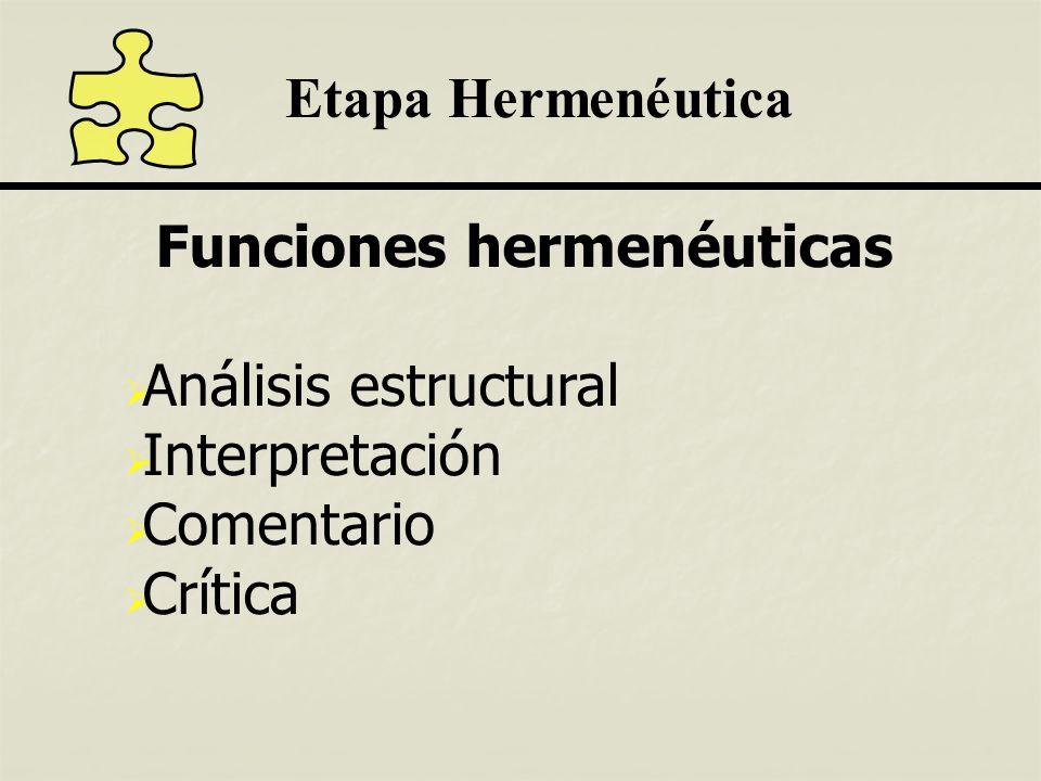 Funciones hermenéuticas