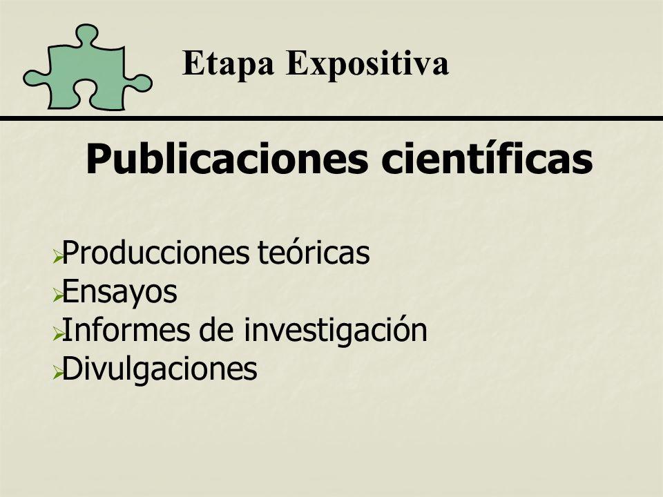 Publicaciones científicas