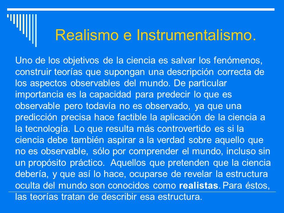 Realismo e Instrumentalismo.