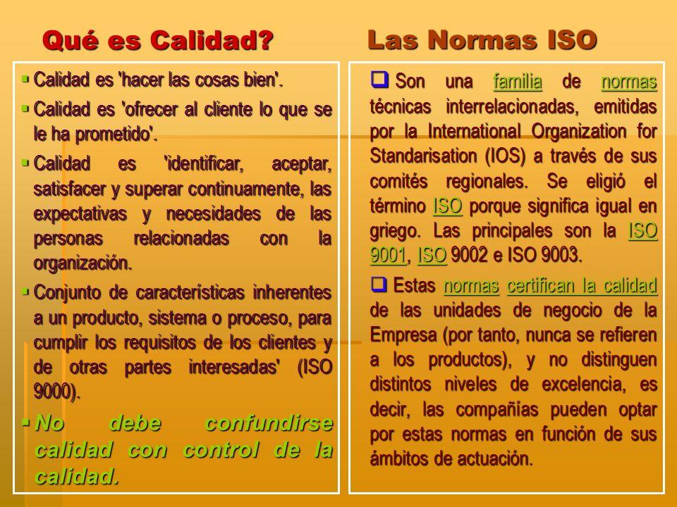 Qué es Calidad Las Normas ISO