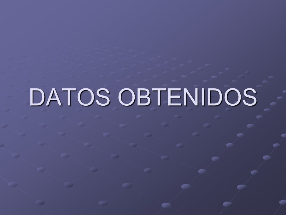 DATOS OBTENIDOS