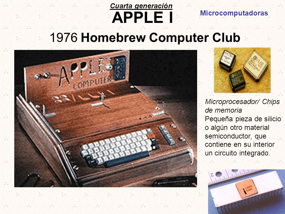 APPLE I 1976 Homebrew Computer Club