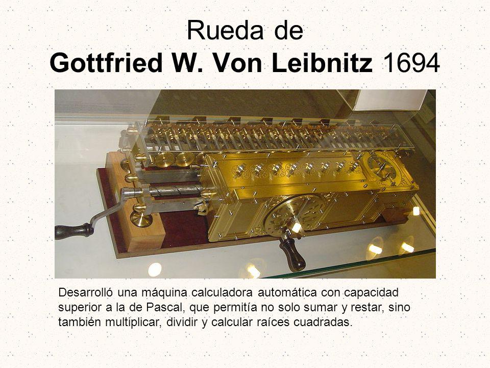 Rueda de Gottfried W. Von Leibnitz 1694