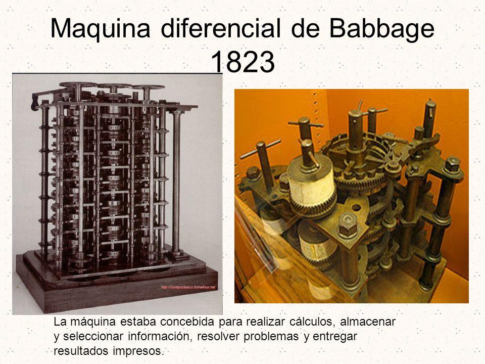 Maquina diferencial de Babbage 1823