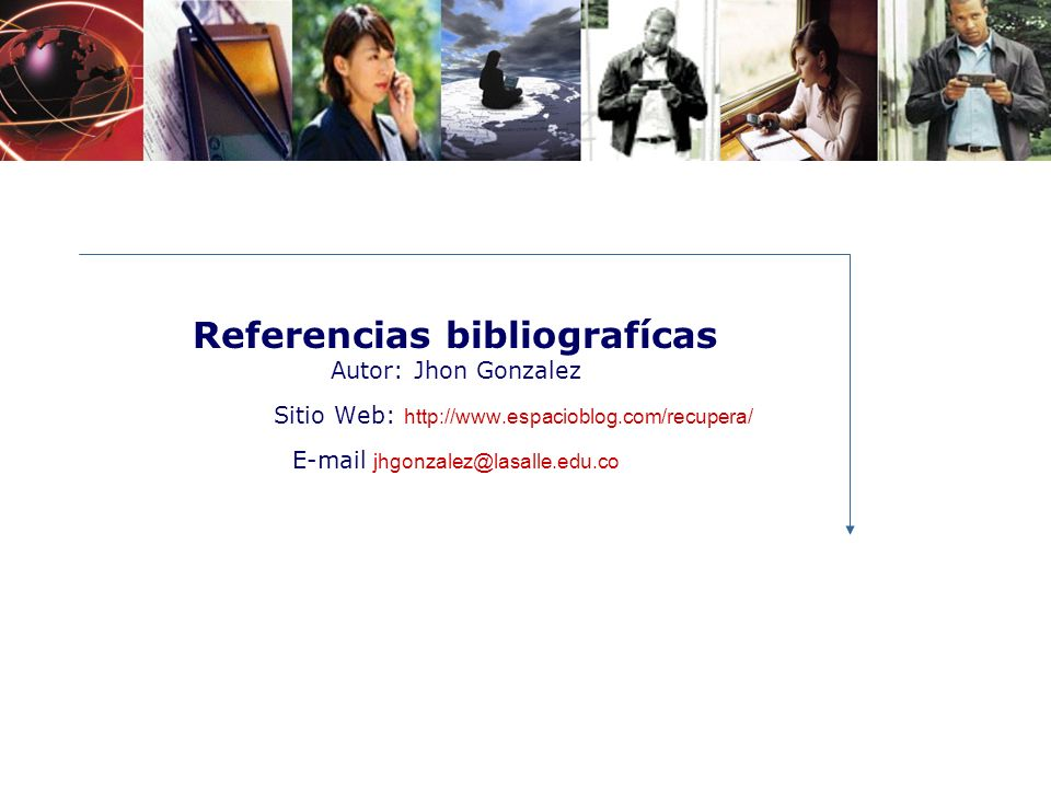 Referencias bibliografícas