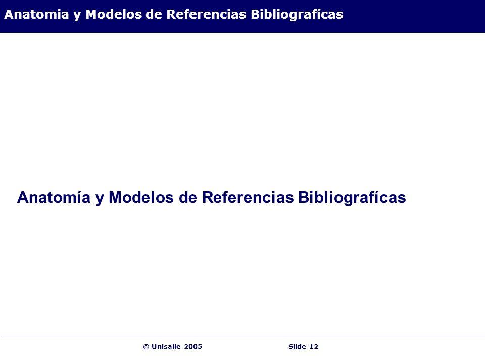 Anatomia y Modelos de Referencias Bibliografícas