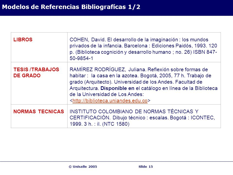 Modelos de Referencias Bibliografícas 1/2