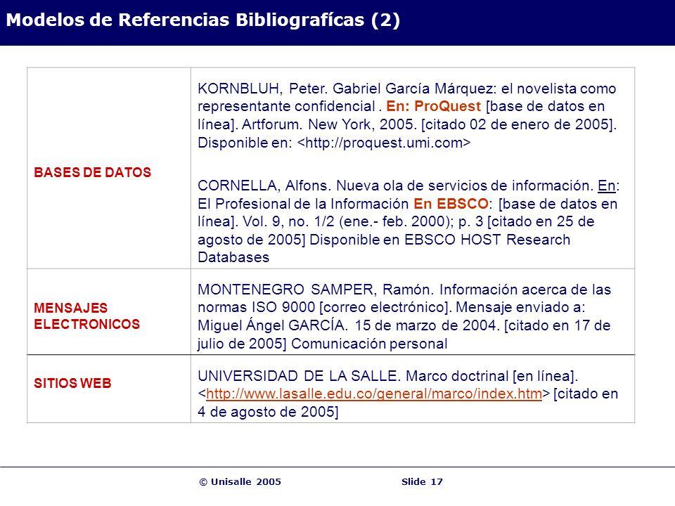 Modelos de Referencias Bibliografícas (2)