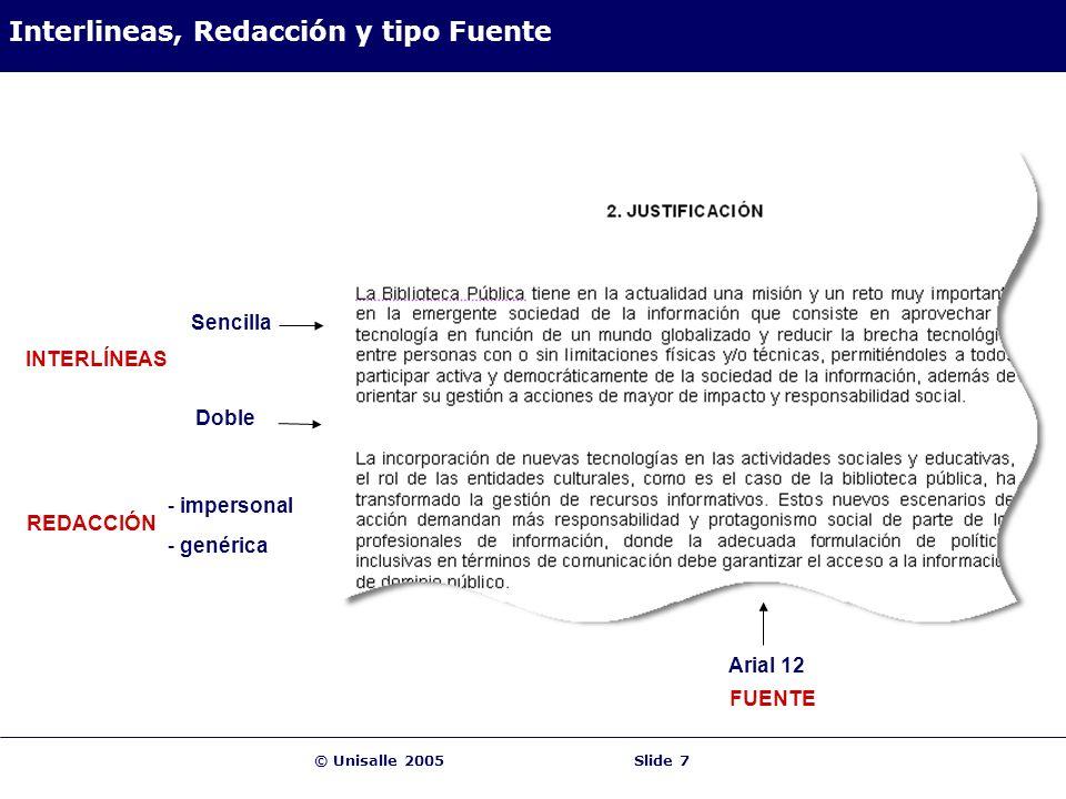 Interlineas, Redacción y tipo Fuente