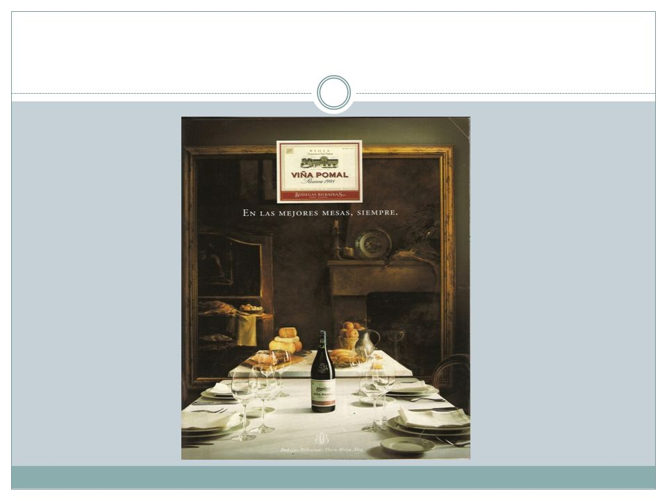 La imagen seleccionada anuncia una marca de vino, concretamente la Viña Pomal .